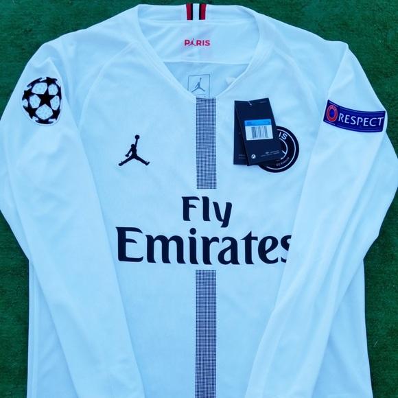 cdb528534 18 19 PSG Jordan long sleeve soccer jersey Neymar